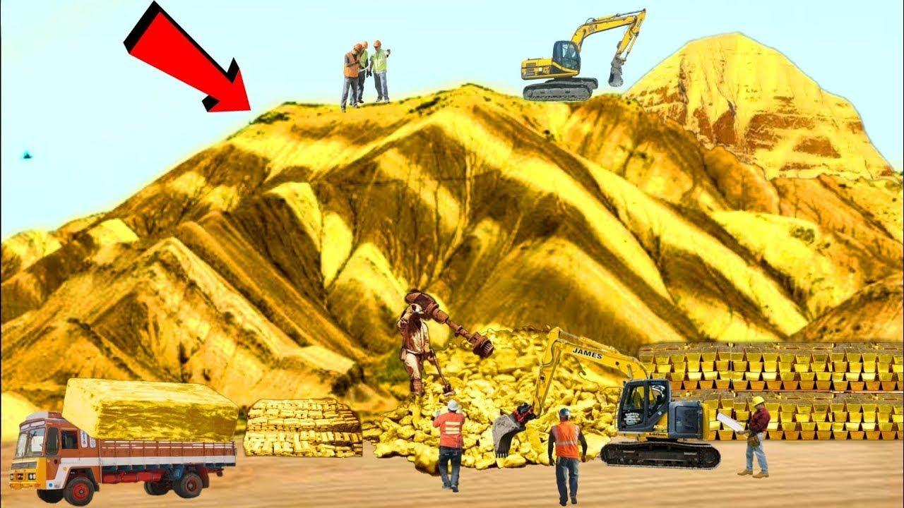 দেখুন সোনার পাহাড় ভেঙ্গে কিভাবে সোনা বের করা হচ্ছে । Pure Gold Mining and Melting Factory - Bangla