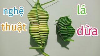 Cách làm hình tháp bằng lá dừa để trang trí (c. 1) #TOITNT