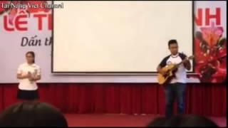 Cho Con - Thiện Nhân hát live cực hay với tiếng đàn Guitar
