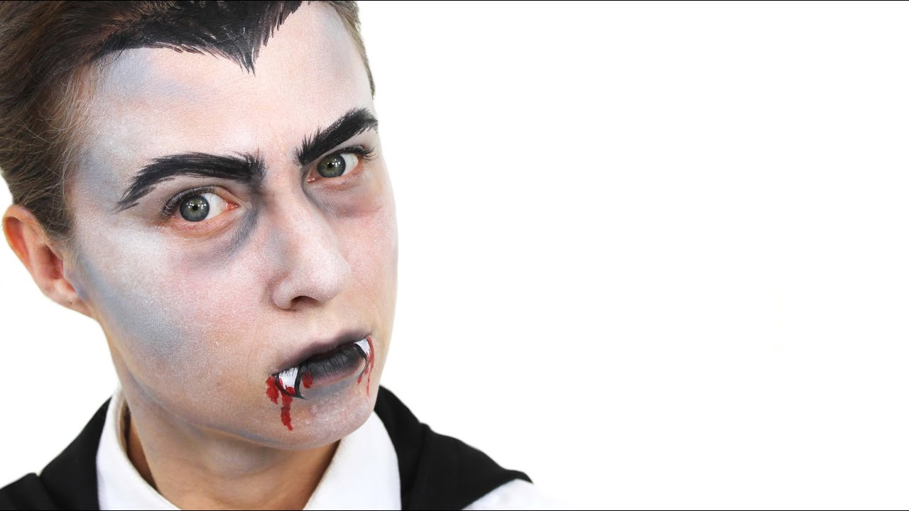 Uncategorized Dracula Face Painting halloween vampire dracula face paint tutorial snazaroo youtube
