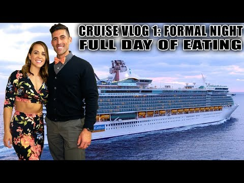 Cruise Vlog 1: Royal Caribbean Liberty of the Seas - Embarkation, Crew Room Tour, Full Day of Eating