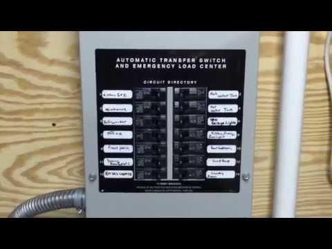 Generac 14 KW Stand By Generator Transfer Switch