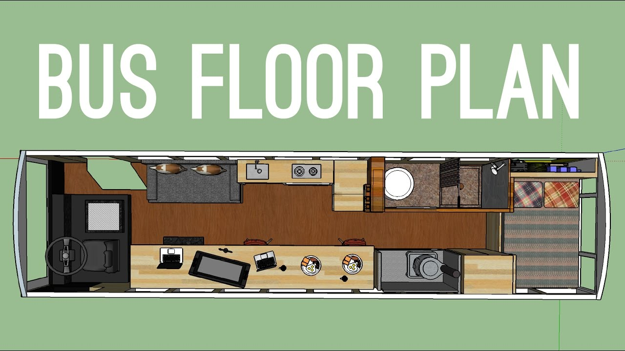 Planning The Floor Layout For Our School Bus To Tiny Home