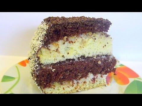 Бисквитный Слоёный Торт «Ника» кулинарный видео рецепт