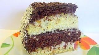 Бисквитный Слоёный Торт «Ника» кулинарный видео рецепт(Торт «Ника» не самый простой в приготовлении, зато прекрасен на вид и вкус☺ Крахмал, добавленный в тесто,..., 2013-12-23T20:08:11.000Z)