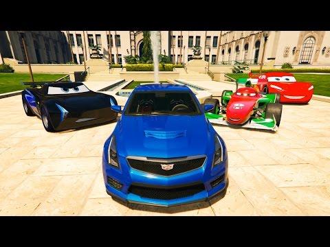 Francesco Şimşek Mcqueen Jackson Storm Tek Kapı Araba İle (GTA 5 Hikaye Modu)