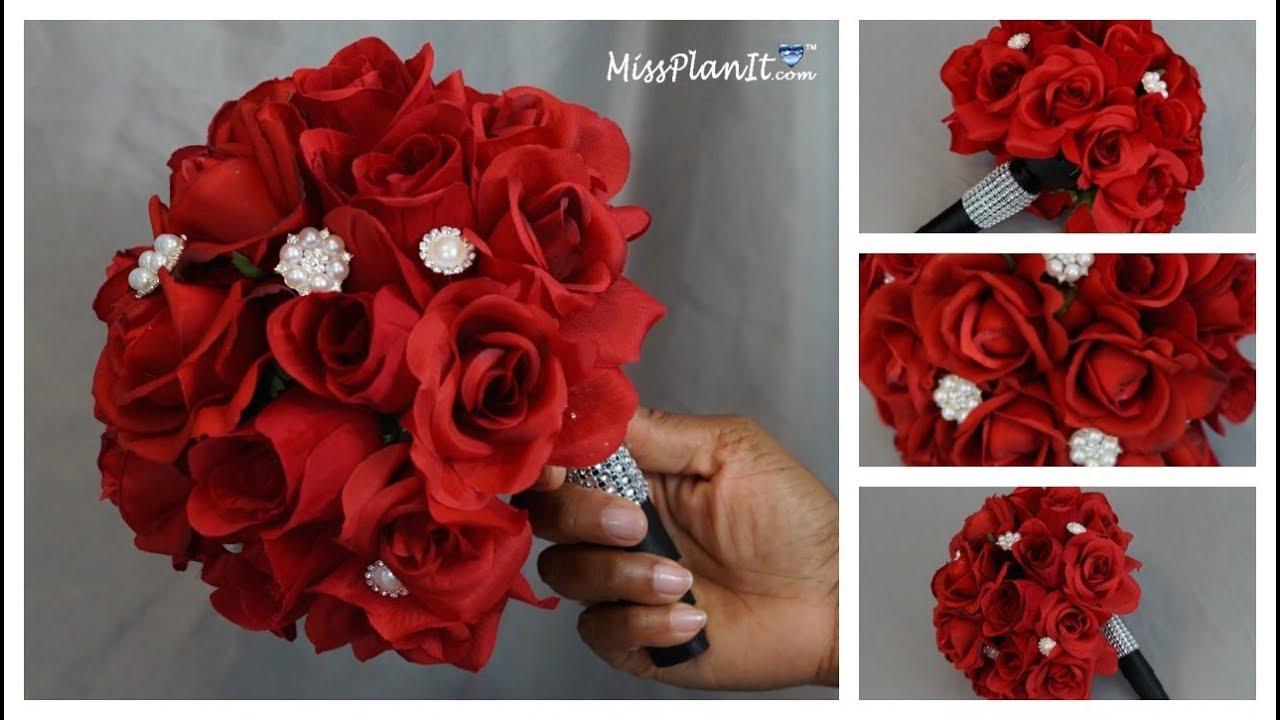 Diy Rose Bridal Bouquet Weddings On A Budget Diy Wedding Tutorial