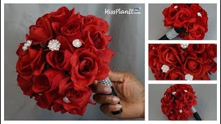 DIY Rose Bridal Bouquet | Weddings on a Budget |  DIY Wedding Tutorial