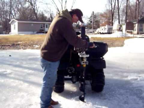 Lake Puckaway Ice Auger Caddy For 4 Wheeler