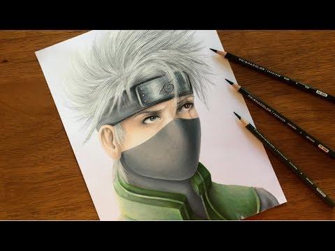 Anime Characters Realistic : Drawing naruto characters realistic kakashi hatake youtube