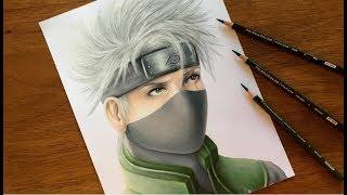 Drawing Naruto Characters   Realistic Kakashi Hatake