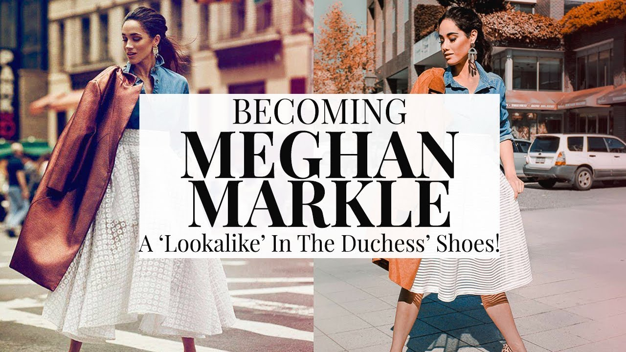 BECOMING MEGHAN MARKLE! ROYAL LOOKALIKE IN THE DUCHESS' SHOES!