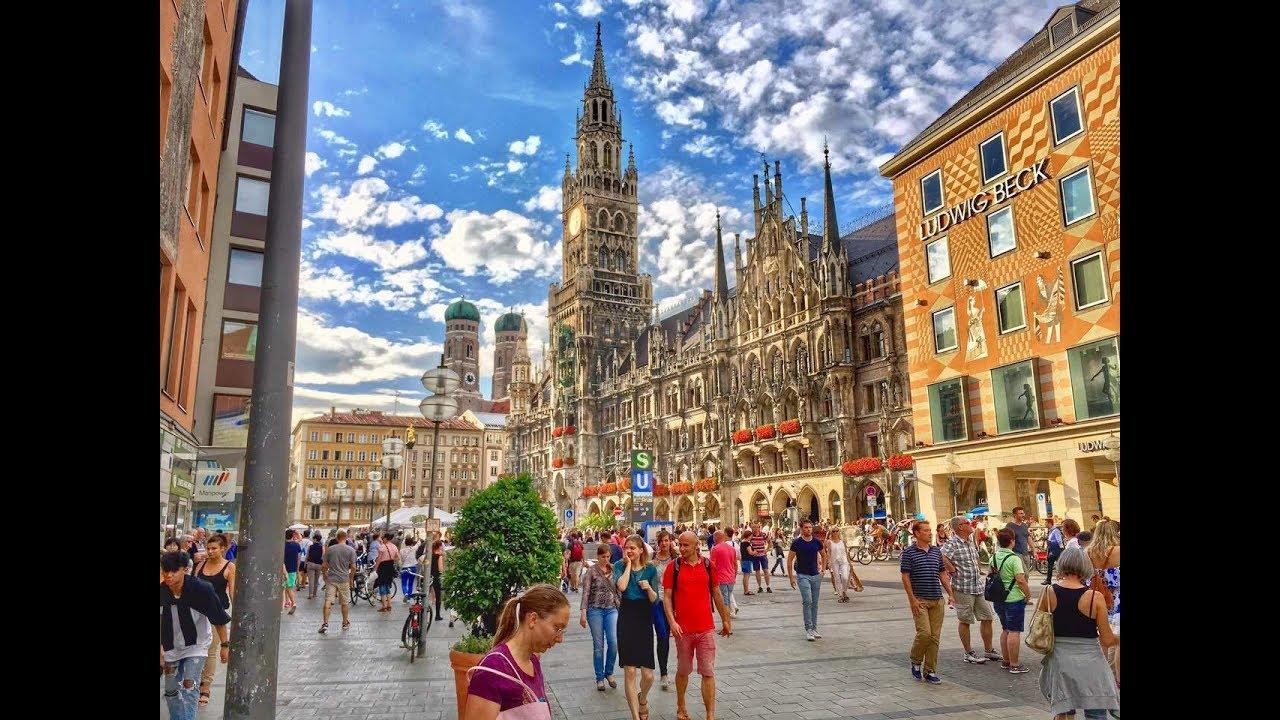 München Germania August 2017 4k