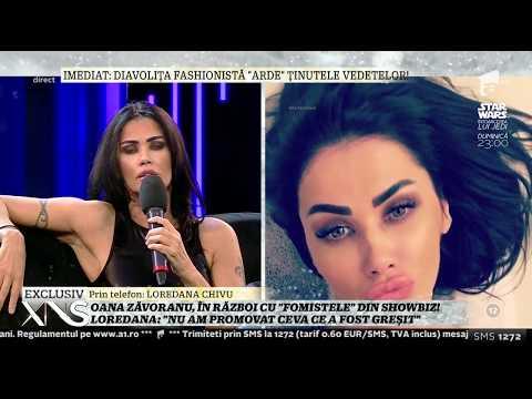 Ceartă între Oana Zăvoranu și Loredana Chivu, în platoul Xtra Night Show