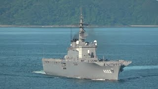 M190812A 海上自衛隊佐世保基地 輸送艦『しもきた』 入港
