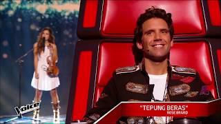 Reaksi juri The Voice mendengarkan Lagu dari Tepung Beras Rose Brand