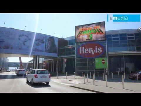 E-MEDIA - LED ZASLON, Citypark, Ljubljana, SI