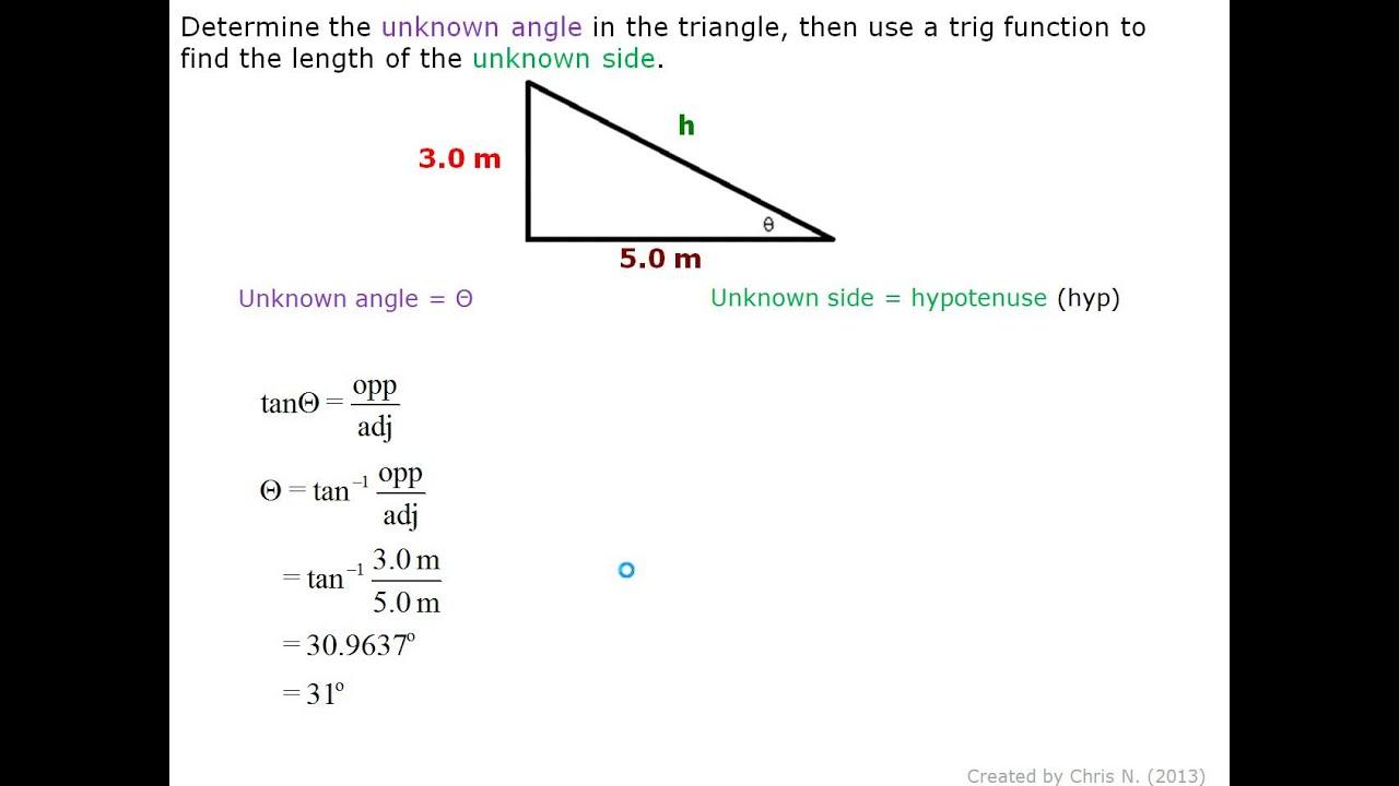 60 And Angle Length 3 5 Triangle Cm Degree