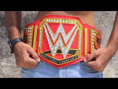 How to Make WWE UNIVERSAL CHAMPIONSHIP BELT [HOMEMADE] ||Humanity Be a star||