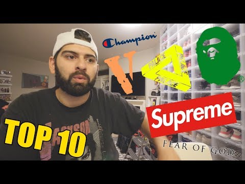 TOP 10 BEST STREETWEAR BRANDS RIGHT NOW! *MOST HYPED*
