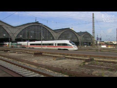 Züge - Trains am Hbf Leipzig -  Eisenbahn - Station