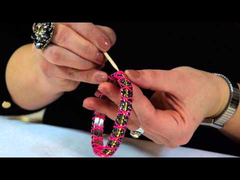 DIY jewellery tutorial by Katja Koselj – Recycled Bangle Bracelet