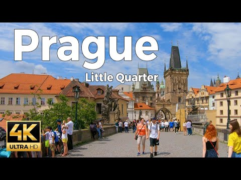 Prague, Czech Republic Walking Tour Part 2 - Little Quarter (4k Ultra HD 60fps)