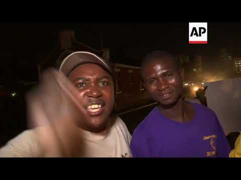 Celebrations in Harare following Mugabe's resignation