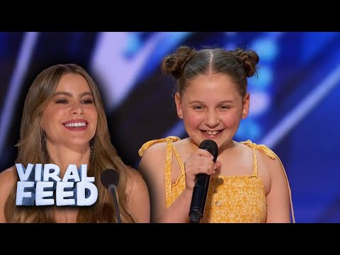 ADORABLE 12 Year Old Performs 'Dance Monkey' On America's Got Talent 2020   VIRAL FEED