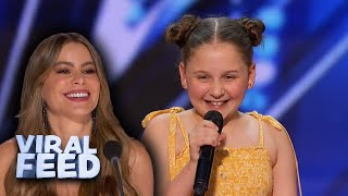 ADORABLE 12 Year Old Performs 'Dance Monkey' On America's Got Talent 2020 | VIRAL FEED