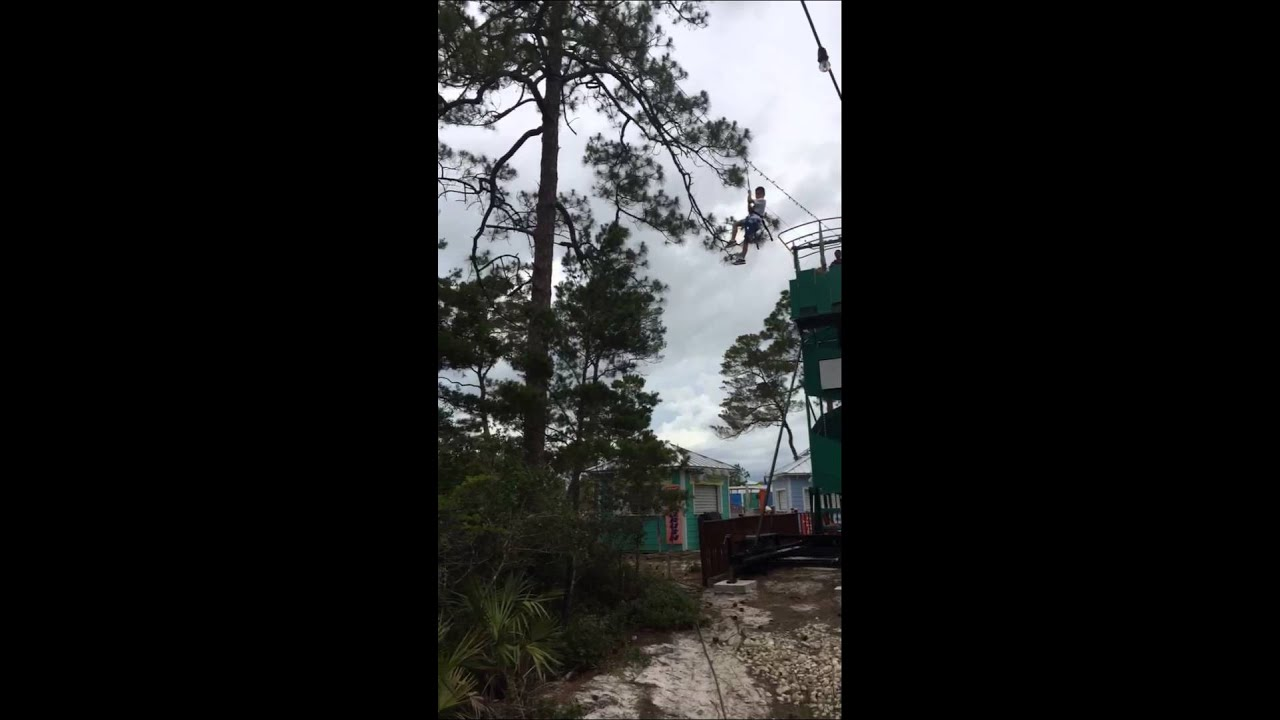 Evan Goes Zip Lining In Panama City Beach
