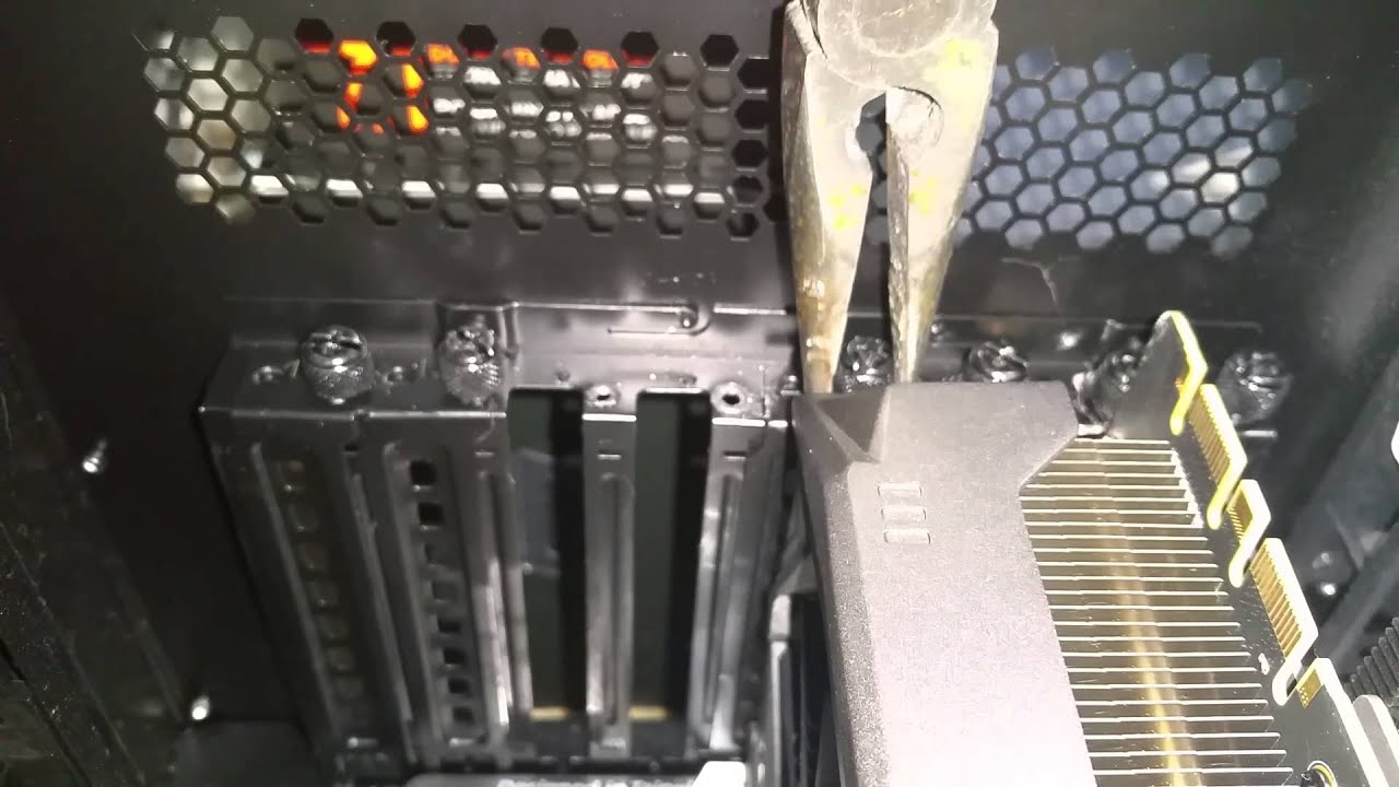how to remove a stuck stripped broken screw from a gpu youtube. Black Bedroom Furniture Sets. Home Design Ideas