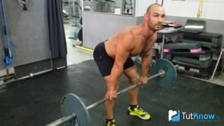 видео Тяга штанги в наклоне: упражнение для тренировки спины