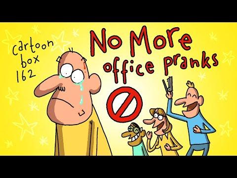 No More Office Pranks!   Cartoon Box 162   By FRAME ORDER   Office Prank Cartoons