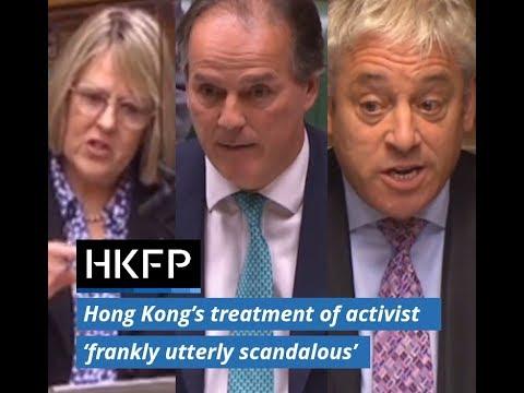 Hong Kong treatment of activist Benedict Rogers