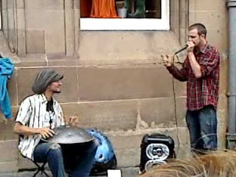 Beatboxer David Crow JAMS WITH Danial Wapels on Hang Drum in EDINBURGH FRINGE FESTIVAL
