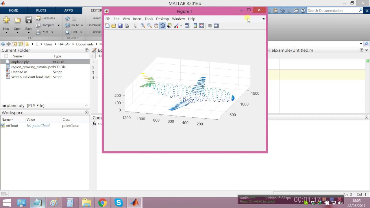 How to Read 3-D Point Cloud of PLY or PCD File in MATLAB? - YouTube