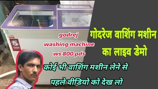 Godrej WS 800 PDS Semi Automatic Washing Machine ( hindi)