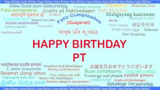 PT   Languages Idiomas - Happy Birthday