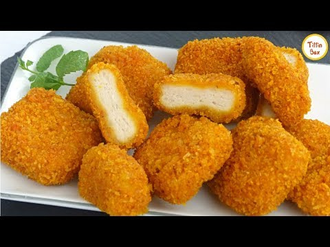 Homemade Chicken Nuggets Recipe By Tiffin Box | How To Make Crispy Nuggets For Kids Lunch Box