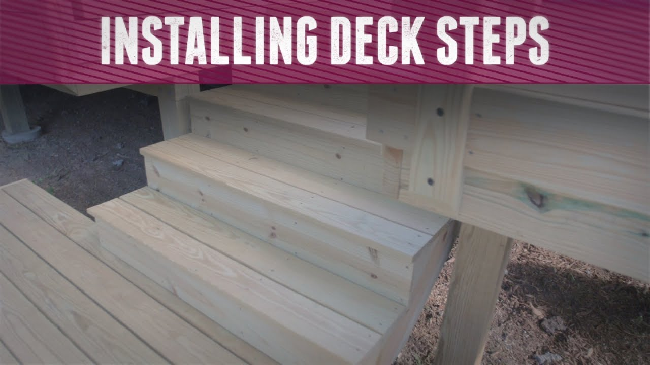 How To Install Deck Steps   DIY Network