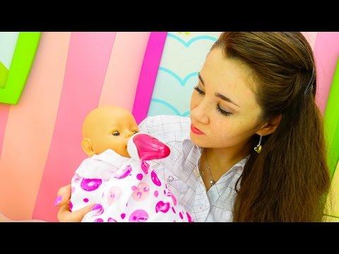 Видео для детей и Ролевые игры одевалки для девочек с куклой БЕБИ БОН: Эмили заболела;(