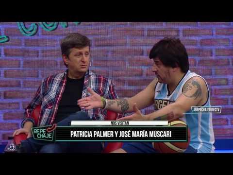 Patricia Palmer y José María Muscari en el piso de REPECHAJE