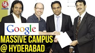 Google's 2nd largest campus to come up in Hyderabad - KTR US tour (13-05-2015)