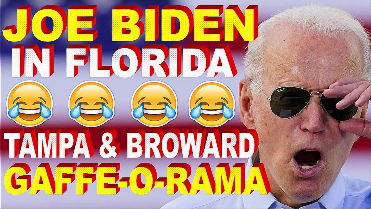 Joe Biden In Florida: 2 Speeches of Mumbles, Stumbles & Gaffes - Election 2020 - Tampa