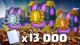 ¡¡¡ABRIMOS LOS COFRES GRANDES DE TORNEO!!! Hay 6000, 4000 y 3000 cartas | Clash Royale | Español