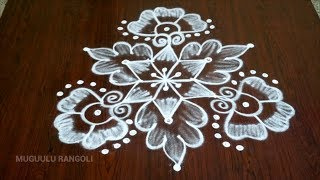 5 dots rangoli design simple 5 dots kolam poo kolam with 5 dots 5 dots simple kolam 5 dot kolam