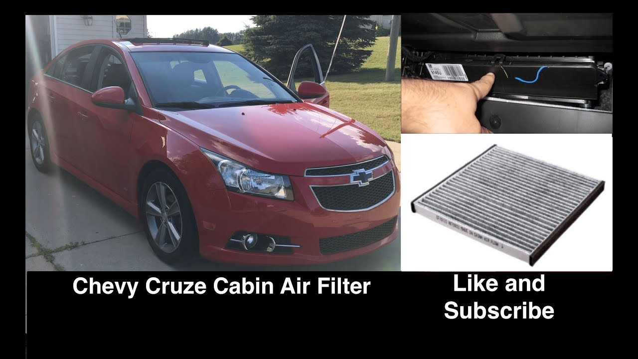 Chevrolet Cruze Cabin Interior Air Filter Location Replacement Removal