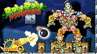 МОНСТРЫ момо вампир игра стиль ЭНГРИ БЕРДС часть 2 / ROLY POLY MONSTERS game kids летсплей для детей