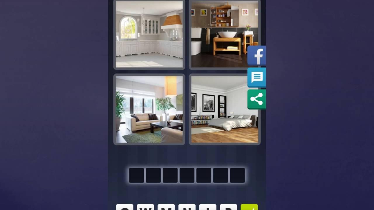 4 Bilder 1 Wort Lösung [Küche, Bad, Zimmer, Bett]
